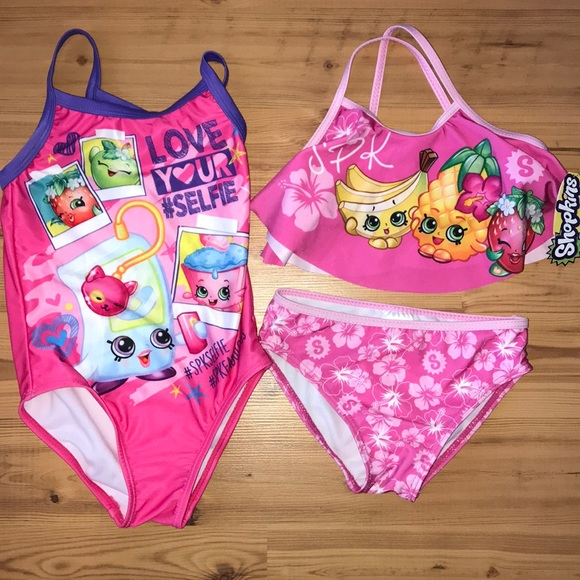 f6b94a2727549 Swim | Bundle 2 Shopkins Suit Size 4 | Poshmark